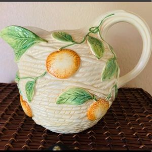 Vintage Ceramic Water Pitcher Made in Italy